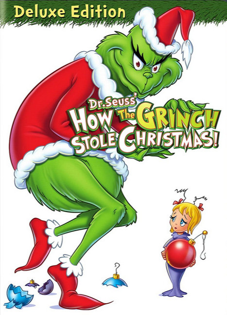 Dr. Seuss' How the Grinch Stole Christmas DVD deluxe edition with the Grinch on the cover