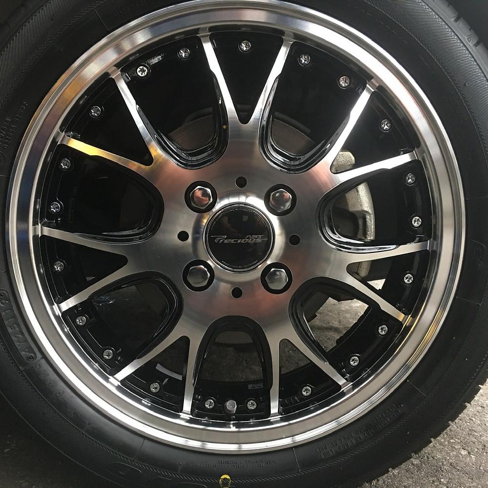 ホンダ N-WGN ホットスタッフ プレシャス アストM2 15インチ 4.5J トーヨータイヤ SDK7 Nシリーズ Nワゴン メッシュ 軽自動車