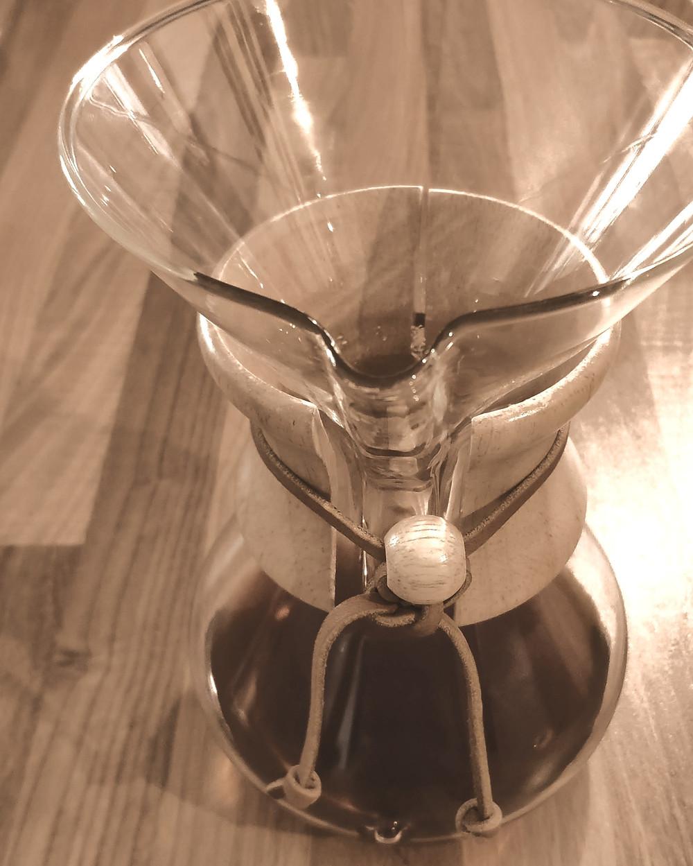 dégustez votre café préparé avec la Chemex