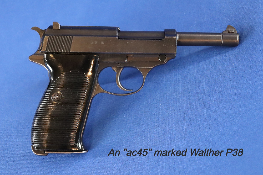 "This is a late WWI produced Walther, coded ""ac45"" meaning it was produced in 1945 at the Walther plant."