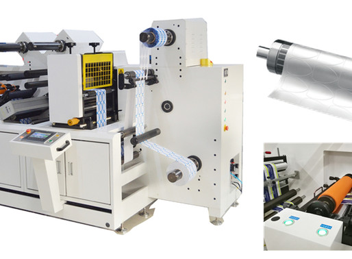 What's the advantage of the label semi-rotary die cutting machine?