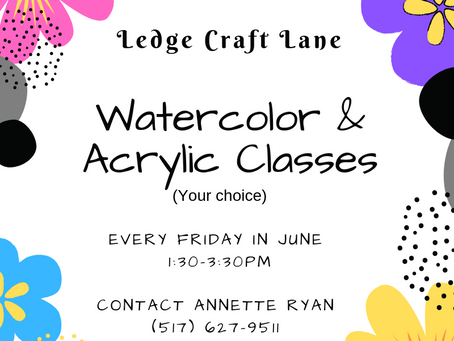 Summer Watercolor & Acrylic Painting Classes