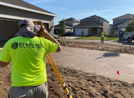 KPM Franklin Survey Crew on the Job in Southeast Orlando
