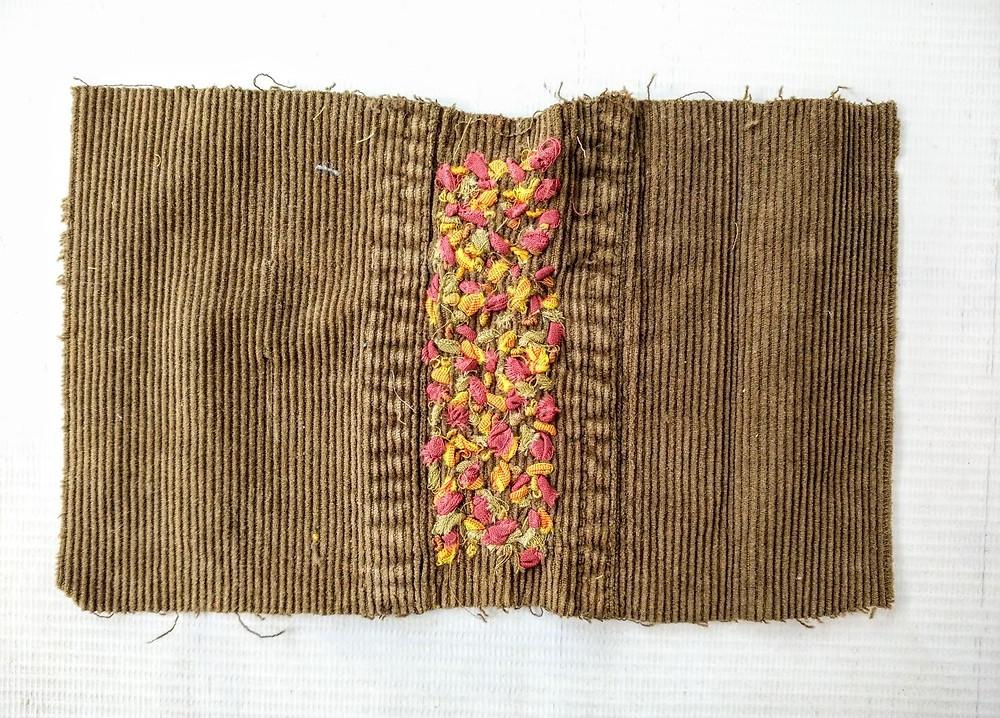 Embroidererd corduroy