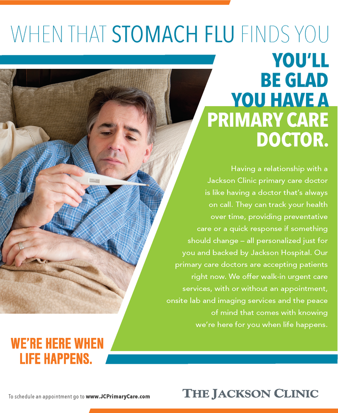 Jackson Clinic primary care ad flu