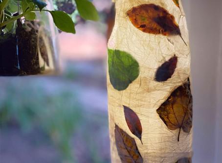 Make an autumn leaf lantern