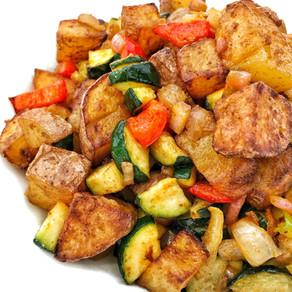 Loaded Air Fried Breakfast Potatoes