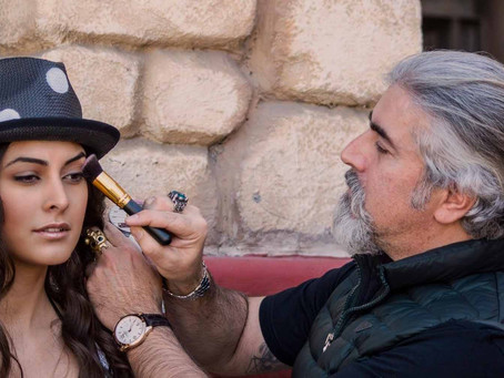 Fashion Photoshoot & Make Up Art Working backstage MUA Sakis Isaakidis