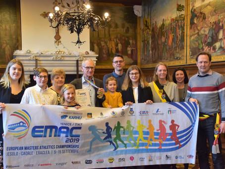 Huldiging Europees atletiekkampioen Erik Leyseele