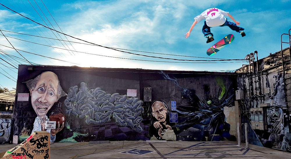 Melrose alley graffiti Los Angeles California