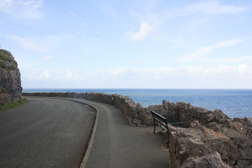 Marine Drive on the Great Orme in Llandudno Wales