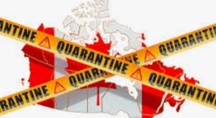 Quarantaine au Canada au retour d'un voyage