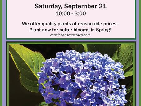 Connie Hansen Garden Plant Sale Today ..