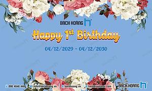 Mẫu Backdrop Phông Sinh Nhật Công ty - Backdrop Birthday Company
