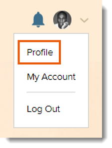 select profile on parenting forum account