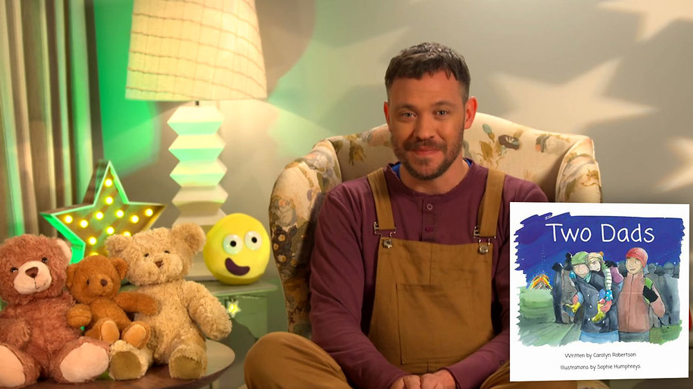 Will Young reading Two Dads on CBeebies Bedtime Stories