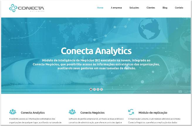 Conecta Analytics web page