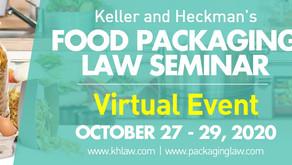 세미나/교육 안내 Food packaging law (Keller and Heckman)