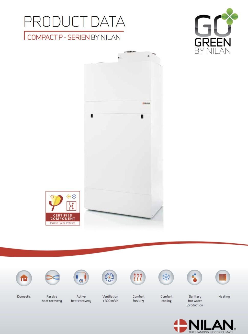 Compact P ventilatie warmtepomp