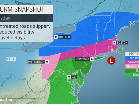 Wintry storm advances into Northeast with travel-disrupting snow, ice