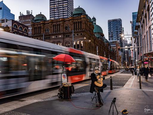 Evening street shot   Sydney street photo