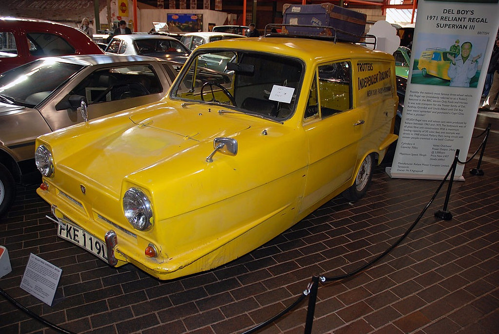 Delboy Reliant Robin Only Fools and Horses