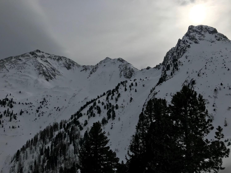 Bergspitzen unter Wolken, Gamskopf Inneralpbach