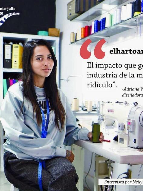 'El impacto que genera la industria de la moda es ridículo': Adriana Villalpando