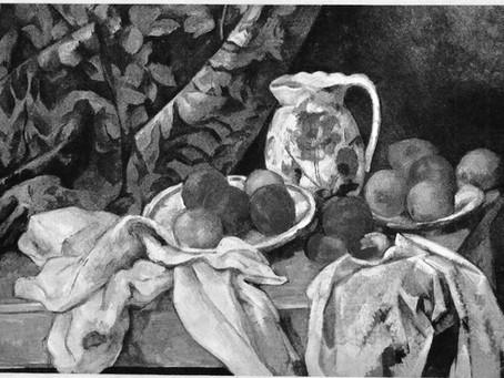 Cézanne, ses pommes , son pichet, par mes élèves