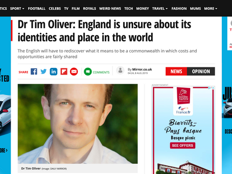England is unsure about its identities and place in the world