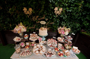 Desserts and candies for a wedding