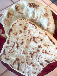 Simple Yeasted Naan Bread prepared by Adele