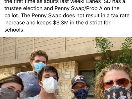 Eanes ISD-Penny Swap/Prop A Adult Transition Service Students Get Their Vote On