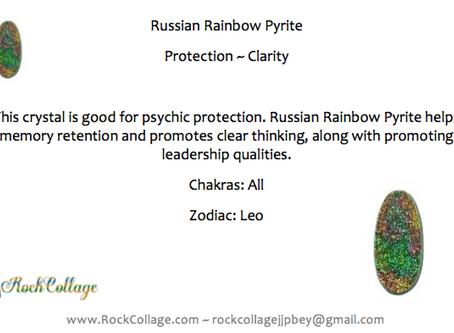 Russian Rainbow Pyrite