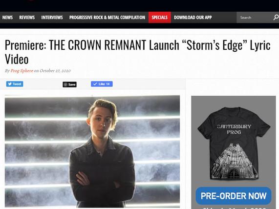 Storm's Edge Interview on Prog Sphere