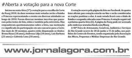 Na Imprensa - Jornal Agora divulga votação para Corte da Fearg - 02/12/2017