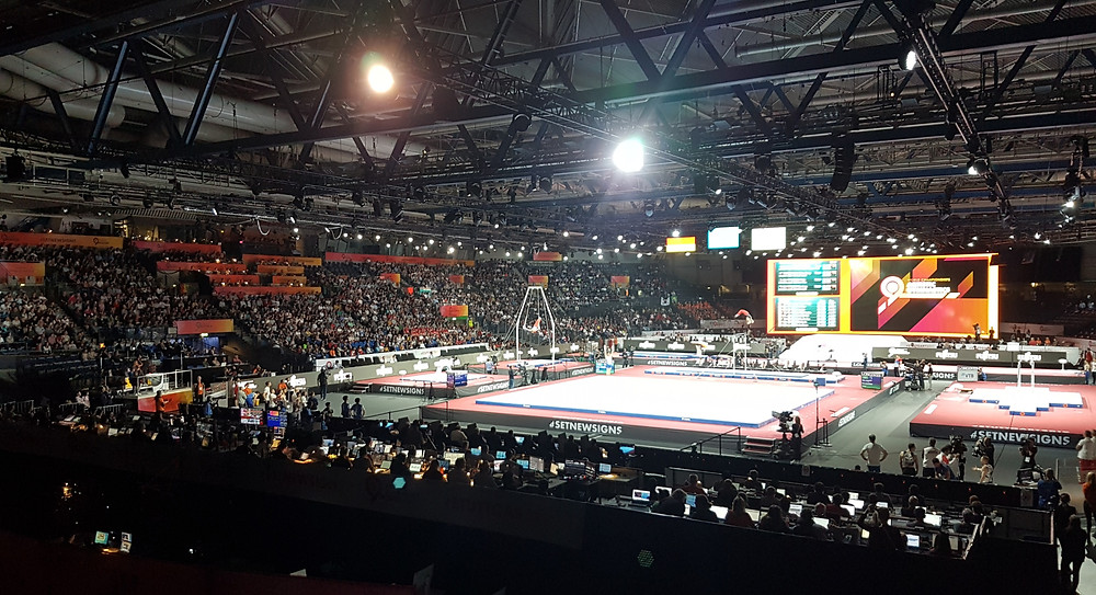Turn WM 2019 in der Hans-Martin Schleyer-Halle in Stuttgart