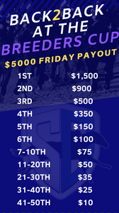 StableDuel fantasy horse racing app. Breeders' Cup friday betting.