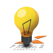 yellow lightbulb with XFrame logo underneath
