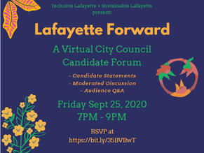 Join Us for a Virtual City Council Candidate Forum