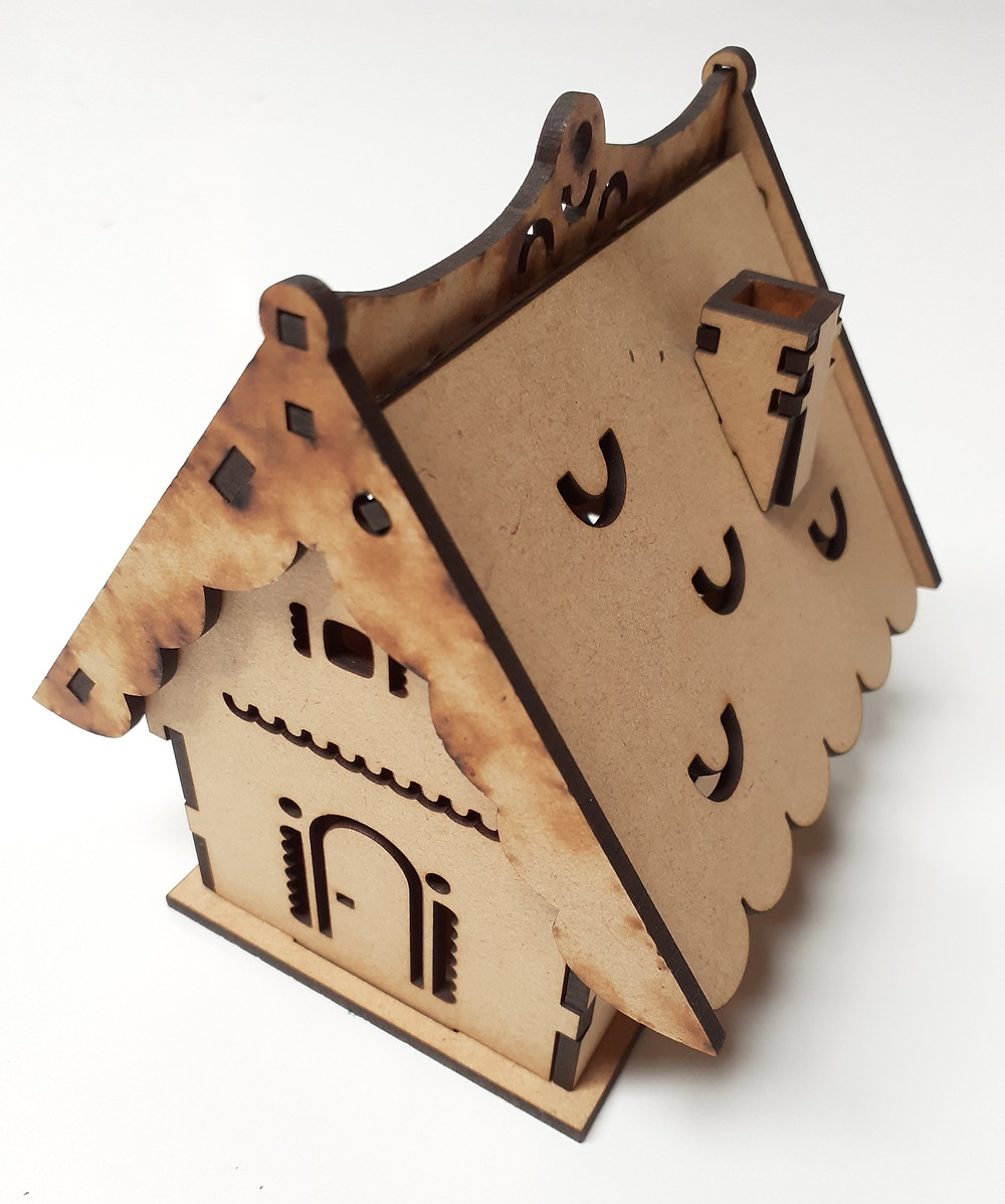Raw version of constructed miniature house