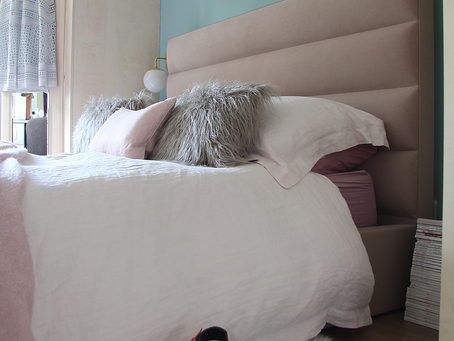Contemporary feminine bedroom styling