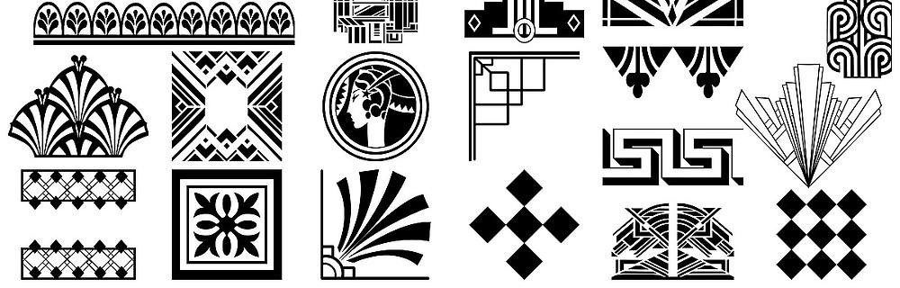 Examples of Art Deco Decorative Elements