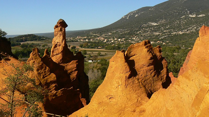 Les ocres de Rustrel et de Roussillon