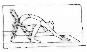 Pavana muktasana chair