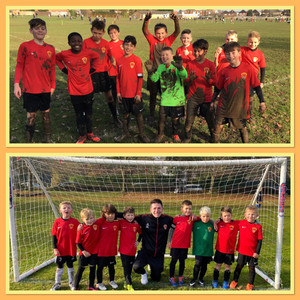 The U11 Sports and U7s Youth enjoying themselves away