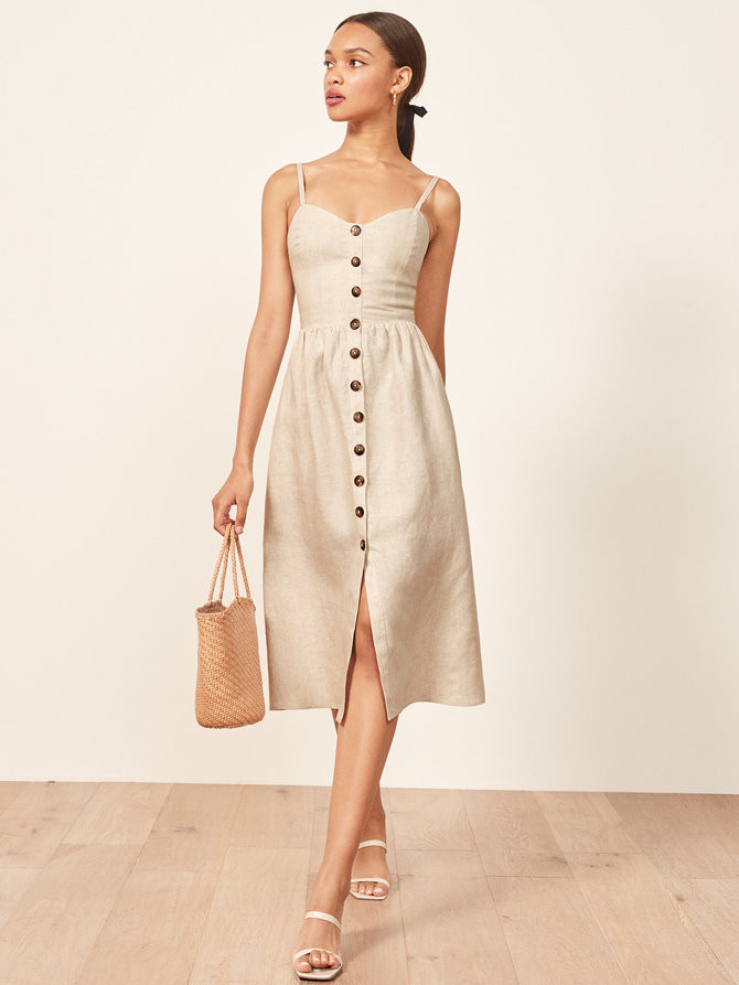 Linen - dress - fashion - sustainable - biodegradable