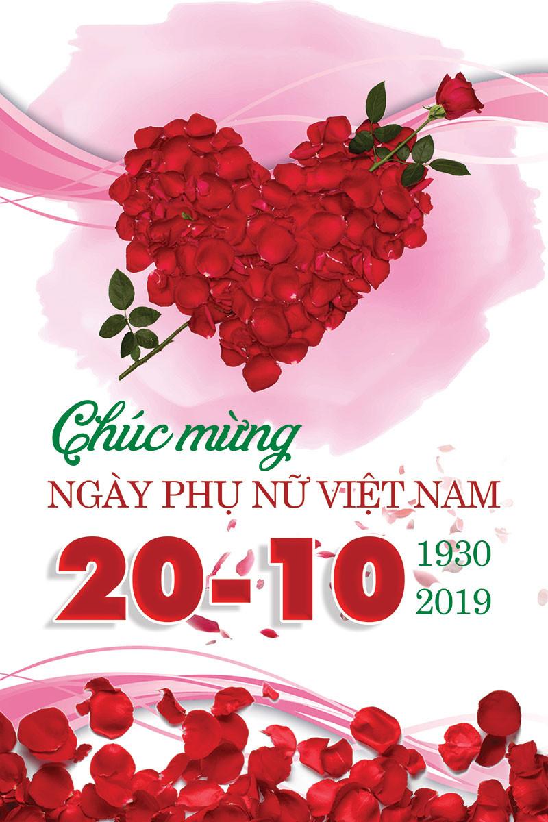 Background Phông Nền Ngày Phụ Nữ Việt Nam 20/10 Photoshop PSD Part01