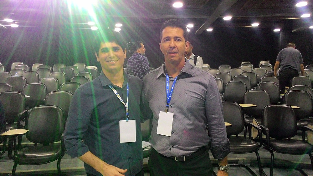 Victor Delamar e o professor Alexandre Castro - 3º CBT
