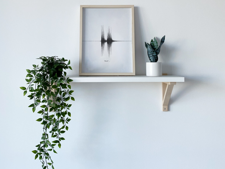 Unique Home Decor: Sound Wave Art